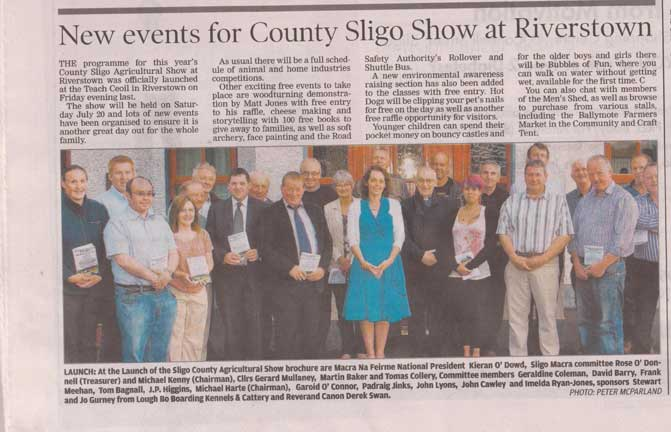 Sligo Weekender Article 11th July 2013